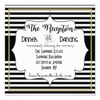 Gatsby Gold Wedding Suite Reception Details Insert Invitations