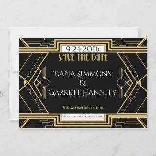 Gatsby Gold Wedding Suite Save The Date Party
