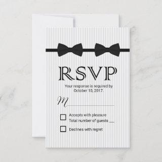 Gay Wedding Double Bow Ties Classic RSVP