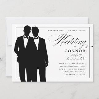 Gay Wedding  Two Grooms Silhouettes