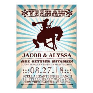 GC Yeehaw Rodeo Engagement Party Invitation