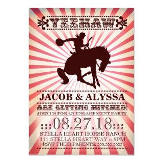 GC Yeehaw Rodeo Engagement Party Red Invitations