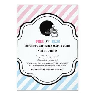 Gender Reveal Football Baby Shower boy girl pink Invitations