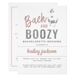 GENNA | Bach and Boozy Bachelorette Itinerary Invitation