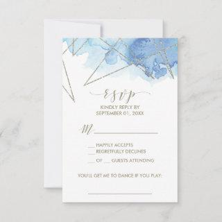Geometric Watercolor Song Request RSVP Card