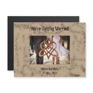 Getting Married Swinging Skirt Celtic Love Knot Magnetic Invitations