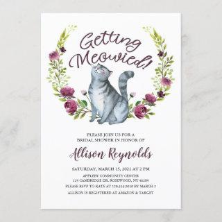 Getting Meowied Bridal Shower Invitation