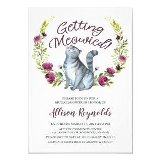 Getting Meowied Bridal Shower Invitations