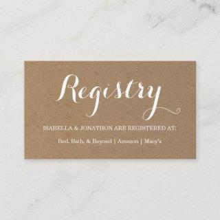 Gift Registry Enclosure Card