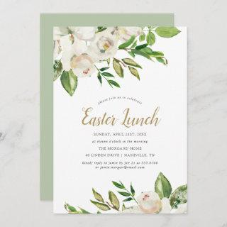 Gilded Blooms Easter Lunch Invitation
