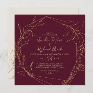 Gilded Floral | Burgundy & Gold All In One Wedding