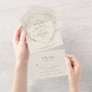 Gilded Floral | Cream and Gold Wedding All In One