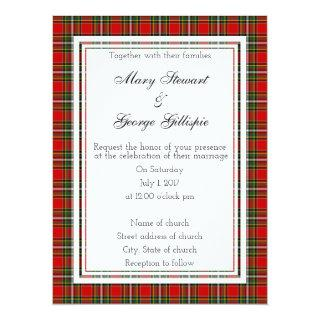 Gillispie Scottish Wedding Invitation