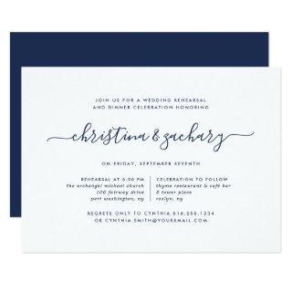 Gin Lane Rehearsal Dinner Invitations | Navy