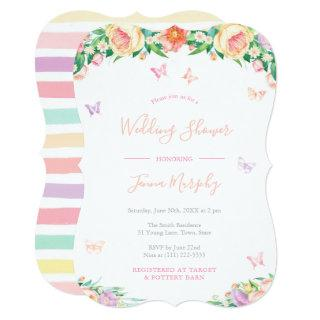 Girly Floral Butterflies Fairy Tale Bridal Shower Invitations