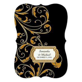 Glam Old Hollywood Regency Black Tie Event Style Invitations