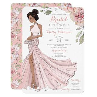 Glam Personalized Bride Bridal Shower Invitations