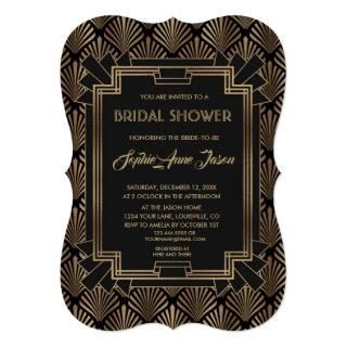 Glam Roaring 20's Great Gatsby Bridal Shower Invitation