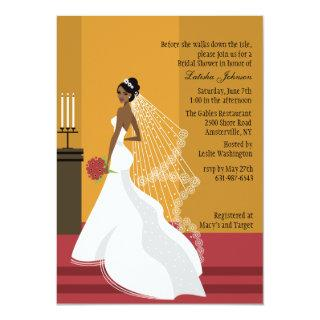 Glamorous Bride African-American Bridal Shower Inv Invitation