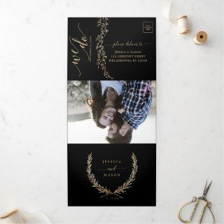 Glamorous Gold Wedding Invitation Set