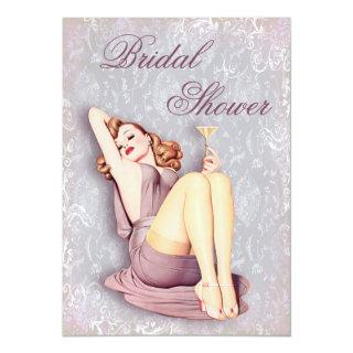 Glamorous Retro Pin Up Girl Bridal Shower Invitations