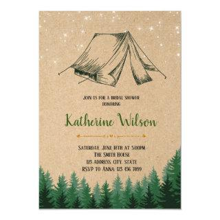 Glamping bridal shower party Invitations