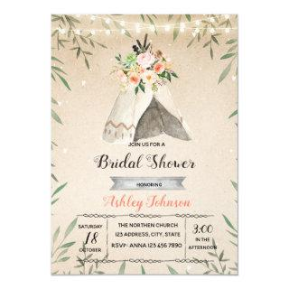 Glamping bridal shower party invite