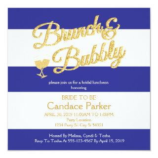 Glitter, Royal Blue Bridal Shower Invitations