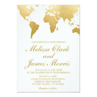 Globetrotter Glam Wedding Invitations