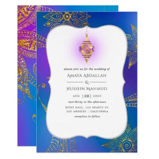 Gold Foil Arabian Bollywood Wedding Invitations