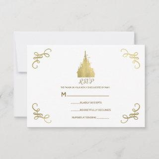 Gold Foil Princess Castle Storybook RSVP