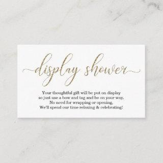 Gold Glitter Display Shower Enclosure Card Insert