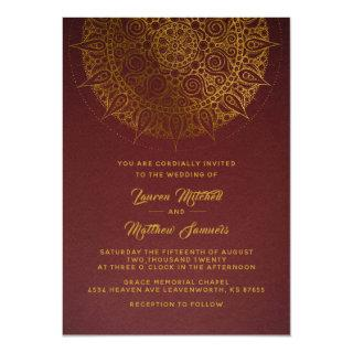 Gold Mandala Wedding Invitation