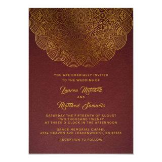 Gold Mandala Wedding Invitations