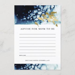 GOLD NAVY UNDERWATER SEA FISH ADVICE BABY SHOWER  ENCLOSURE CARD