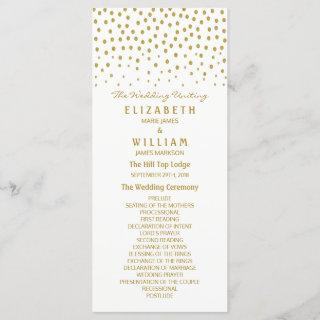 Gold Polka Dot Wedding Program