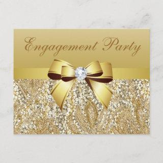 Gold Sequins, Bow & Diamond Engagement Party