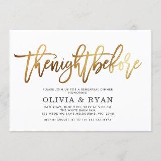 Gold the night before Invitations