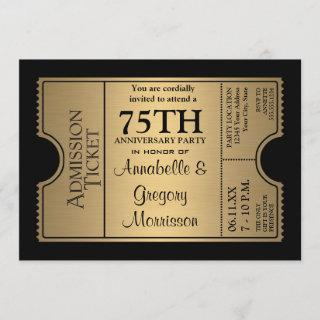 Golden Ticket Style 75th Wedding Anniversary Party