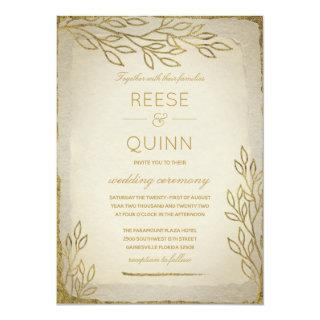 Golden Tree of Life Wedding Invitations