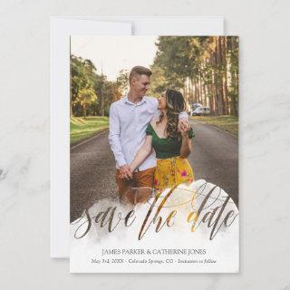 Gossamer Overlay Double Sided Photo Save the Date