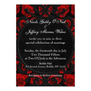 Gothic Red Roses Victorian Wedding Invitations