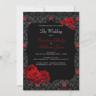 Gothic Rose Black and Red Wedding