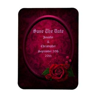 Gothic Rose Frame Save The Date Wedding Magnet