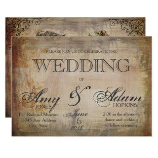 Gothic Skull Wedding Invitation