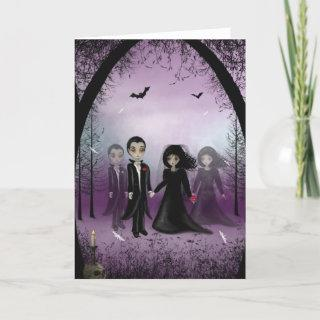 Gothic Wedding Greeting Card