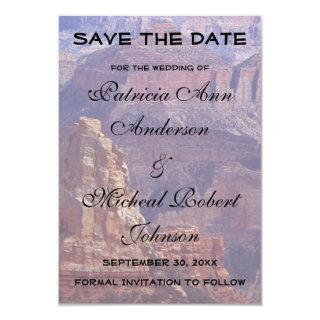 Grand Canyon Save The Date Wedding Announcement