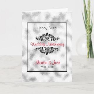 Gray And White Ground Glass Card
