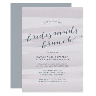 Gray Lilac Bridesmaids Brunch Invitations