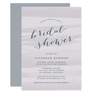 Gray Lilac Watercolor Bridal Shower Invitation